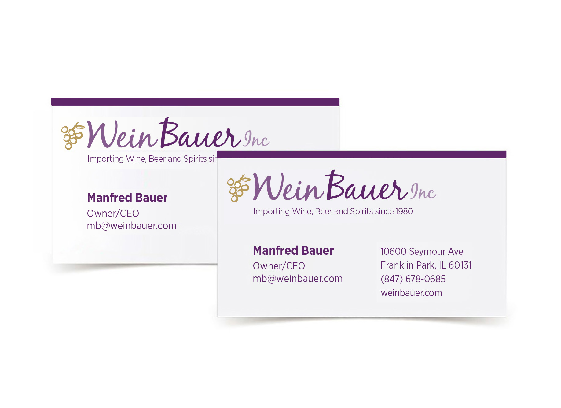 wine importer business card